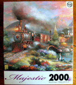 Majestic Maryland Mountain Express Train Jigsaw Puzzle 2000 Pieces New in Box