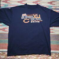 Chicago Bears Shirt Adult 2XL Blue Super Bowl XLI Football NFL Mens