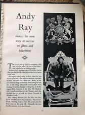 K3-7 Ephemera 1950s Film Article Actor Andy Andrew Ray Son Of Ted