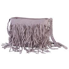 Grey Lady Women Beauty Tassel Fringe Shoulder Messenger Handbag Cross Body Bag