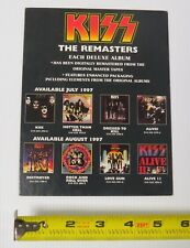 KISS THE REMASTERS RECORD STORE CARDBOARD PROMO FLAT 1997