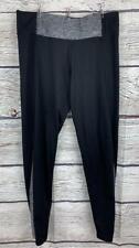 VICTORIA'S SECRET PINK Yoga Pants Large Black/Gray Heather