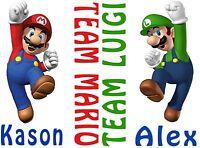 Garçons T-shirts Avengers Ultron Hulk Star Wars Super Mario Luigi SPIDER-MAN Neuf avec étiquettes