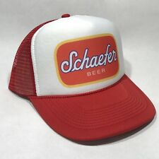 Schaefer Beer Trucker Hat Mesh Vintage Brewery Snapback Party Cap Red