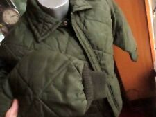 SMALL TRUE VTG 80S BIG SMITH UNION MADE FORREST GREEN QUILT PUFFER ZIP JACKET