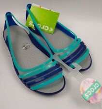 Crocs Womens Isabella HuaracheFlat Berry/OysteCerulean Blue 202465-4O5 Size 7