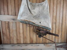 Steampunk Gears Antique Rustic Farmhouse Farm Seeder Sower Spreader Tool Crank