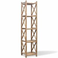 vidaXL Bamboo Shelf 5 Tiers Display Shelving Unit Rack Stand Organizer Storage