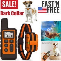 Dog Training Collar With Remote Rechargeable Electric Dog Bark Collar Waterproof