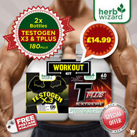 TESTOGEN ANABOLIC -STRONG LEGAL TESTOSTERON + FAT BURNER ULTIMATE WORKOUT KIT
