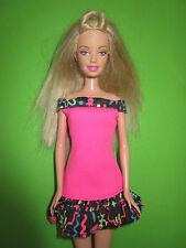 B500-moderna rubio barbie mattel 1998 originales camisa de tirantes rosa vestido con Label + zapatos