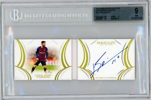 Lionel Messi BGS 9/10 Pop 1 Immaculate On-Card Autograph Booklet/10 FC Barcelona