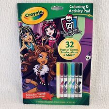 Crayola Monster High Coloring & Activity Pad with Markers Kids Arts & Crafts