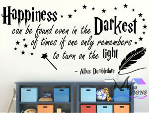 Harry Potter - Happiness - Albus Dumbledore Wall Sticker Decor Decal