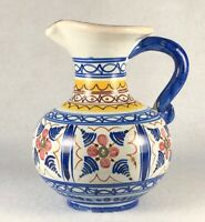 Vintage Sangria Pitcher Mid Century Hand Painted Signed Spain
