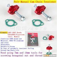 2X Manual Timing Cam Chain Tensioner For Honda VTR1000F/Firestorm 1997-2007 Red