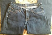 Lucky Brand Sweet N Straight 6 / 28 Women's Jeans Dark Wash Solid Denim Stretch