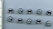 LEGO x 10 Metallic Silver Minifig, Headgear Helmet with Breathing Apparatus