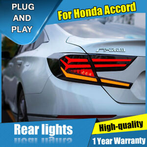 For Honda Accord Dark / Red LED Rear Lamps Assembly LED Tail Lights 2018-2020