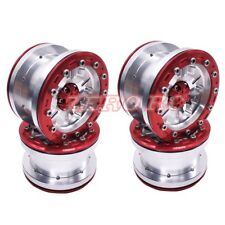 4PCS ALUMINUM Beadlock 2.2 Alloy Wheel Rim For RC Crawler AXIAL WRAITH SILVER