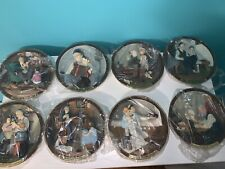 Complete Set Of 8 Norman Rockwell 3D Centennial Collector Plates
