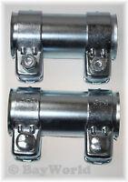 2x BayWorld Auspuff Universal Rohrverbinder 55x59,5x125mm Doppelschelle 55x125mm