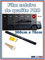 Film solaire de qualite PRO, 3M x 76cm, teinté 50% VLT ( Noir) auto,batiment