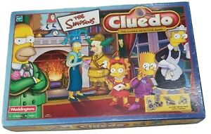 The Simpsons Cluedo Waddingtons Hasbro 2001 Pewter Collectable Board Game