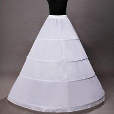 New 4 Hoops Bridal Petticoat Crinoline Underskirt Wedding Dresses Skirt Slips