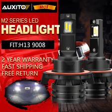 AUXITO H13 9008 20000LM CREE LED Headlight Bulb Kit Hi/Lo Beam 6000K White