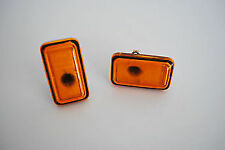 VW GOLF JETTA CORRADO POLO -ORANGE SIDE INDICATOR REPEATER PAIR HELLA 161949101