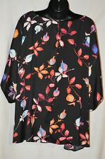 Short Sleeve Asymetric Hem Blouses size plus 3X Jennifer Lopez Multi Color NWT