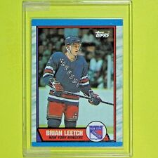 BRIAN LEETCH  89-90  ROOKIE  Topps #136   NY Rangers
