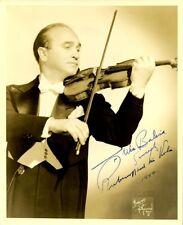 Violinist DAVID RUBINOFF Vintage Signed Photo