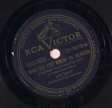 Jack Searle on 78 rpm RCA Victor 31-0012: Who Do You Know in Heaven