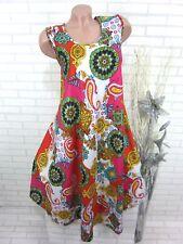 SOMMER Kleid Strandkleid Tunika Trägerkleid Hippie IBIZA Weiß R 46 48 50 (902)