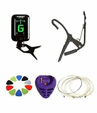 GUITAR TUNER +CAPO+STRING SET+PICKS+PICK HOLDER ALL IN ONE GUITAR ACCESSORIES