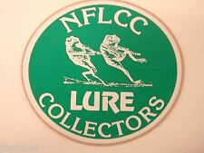 """Vintage NFLCC Lure Collectors Two Frogs 3 """" Sticker Fishing Lure"""