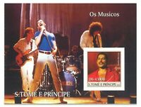 St Thomas 2004 Queen Band Freddie Mercury Stamp Miniature Sheet Mint MUH (6-9)