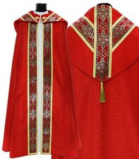 Red Semi Gothic Cope with stole KY113-C25p Capa pluvial Roja Piviale Rosso Chape