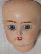 "Antique Doll Head Only Marked 35 Sleep Eyes 4"" Long 8-1/4 "" Cir."