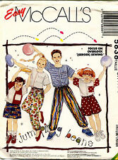 Vintage McCall's Girls'&Boys' Tops&Pants or Shorts Pattern 5838  Size 7,8,10