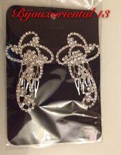 2 Bijoux de tête Pour Chignon Broche A Cheveu Peigne mariage Takchita Caftan