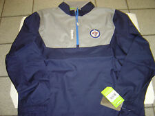 "NEW MENS NHL REEBOK CENTER ICE ""WINNIPEG JETS"" WINDBREAKER JACKET SIZE XL"