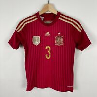 Adidas Spain Football Jersey Youth Size 11-12 Years Short Sleeve Pique