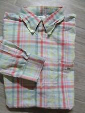 LACOSTE Plaid Oxford Shirt LARGE ( 44 ) Button-Up Shirt