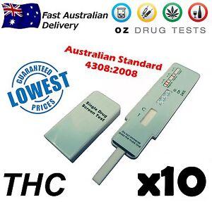 DRUG TEST. 10X ONE STEP MARIJUANA, WEED, CANNABIS, POT TESTS.