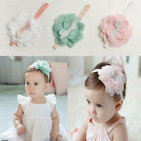 Kids Baby/Girl Toddlers Lace Flower Hair Band Headwear Headband Accessories lj
