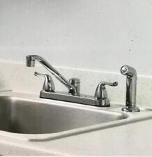 Glacier Bay Constructor 2-Handle Standard Kitchen Faucet w/ Side Sprayer Chrome