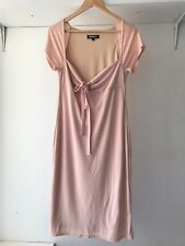 Morrissey Nude Pink Empire Waist Midi Dress, Size 2